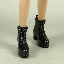 1/6 Phicen, Hot Toys, Play Toy, Kumik, Zy - Female Glossy Black Motorcycle Boots