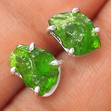 Natural Emerald Rough 925 Sterling Silver Earring Jewelry EE22040