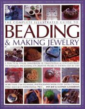 THE COMPLETE ILLUSTRATED GUIDE TO BEADING & MAKING JEWELRY - NEW PAPERBACK BOOK