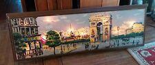 Vtg HUGE Windsor Art Illinois Moulding LIGHT UP Paris ARCH DE TRIOMPHE PAINTING