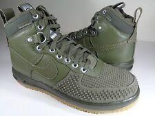 Nike Lunar Force 1 Duckboot Medium Olive Gum Silver SZ 9 (805899-201)