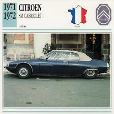 1971-1972 CITROEN SM CABRIOLET Classic Car Photograph / Information Maxi Card