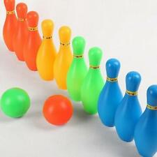 New 10 Pin Skittle 2 Balls Bowling Toy Outdoor Indoor Party Game Child Kid cy