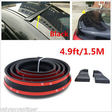 4.9ft/1.5M Black Car Spoiler/Roof/Trunk/Bonnet Rubber Sticker Wing Lip Protector