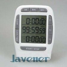 Digital LCD Multi-Channel Timer CountDown Lab 3 Channel Timers 99 Hours Kit Tool