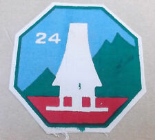 24th  special tactical zone hq MACV    vintage  printed  cloth patch