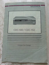 VTG 80'S MAGNAVOX COMPACT DISC CHANGER MODEL 550/552 OWNER'S INSTRUCTION MANUAL