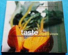 Taste Pure And Simple Cookbook Recipes Cooking Food Michel Nischan HC