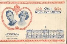 W.D & H.O Wills Our King & Queen Completed Album with all 50 cards stuck in 1937