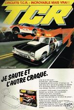 Publicité advertising 1982 Jeu Joets circuits voitures TCR