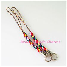 10Pcs Colored Mobile Nylon Strap Lariat Lanyard Cell Phone Cords Hang Rope 80mm
