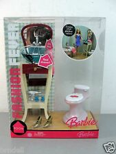 BARBIE DOLL FASHION FEVER STYLIN SINK TOILET BATHROOM FURNITURE NEW IN BOX NRFB