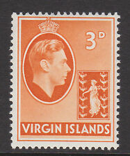 BR.VIRGIN IS.1938 3d ORANGE SG 115a MNH.