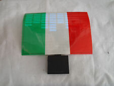 SOUND Activated ITALY FLAG CAR WINDOW STICKER SIGN WITH LED Light UP FLASHING