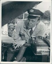 Esso Auto Attendant Wearing Hat Tests Battery w Hydrometer Press Photo