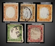 1862 -1863 ITALY SARDINIA KING VICTOR EMANUEL LOT USED + M SCT.10b 11 11a 13a
