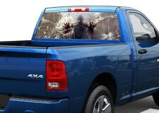 Zombie behind blood broken glass Rear Window Decal Sticker Pick-up Truck SUV Car