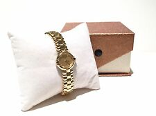 Jean Perret Classic Swiss Ladie's Watch Gold Tone Bracelet - Reduced Price