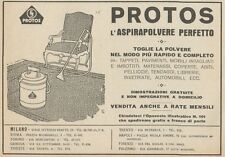 Z1478 PROTOS l'aspirapolvere perfetto - Pubblicità d'epoca - 1927 Old advert