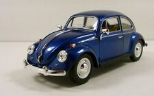 "Kinsmart Volkswagen VW 1967 Beetle 1:24 scale 7"" diecast model car Blue K241"