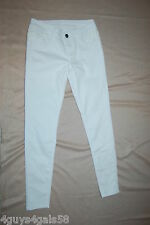 JR Womens FREE CULTURE SKINNY JEANS Low Rise WHITE Lace Overlay Panels SIZE 3