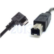 Micro USB To USB B Type Data Cable For OTG Mobile Tablet Hub USB Printer HD YG