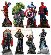 The ULTIMATE Marvel Super Hero Lifesize CARDBOARD CUTOUT Set of 8 Super Heroes!