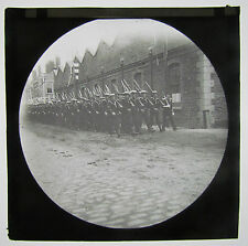 Navy Sailors Marching Boer War Era Antique Magic Lantern Military Glass Slide