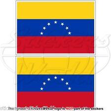 """VENEZUELA Former Civil Flag (7 Star) Venezuelan 100mm (4"""") Stickers, Decals x2"""