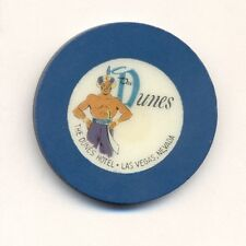 DUNES HOTEL CASINO POKER CHIP---BLUE  COLOR  ROULETTE--