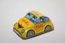 JAPAN TINPLATE BLECH VW VOLKSWAGEN BEETLE KAFER TAXI YELLOW EXCELLENT