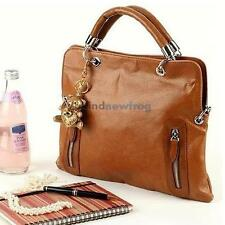 New Women Leather Handbag Retro Shoulder Bag Messenger Shopper Tote Bags Brown