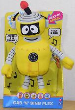 """Yo Gabba Gabba TALKING Singing PLEX ROBOT 14"""" Plush Gab n Sing Spin Master NEW"""
