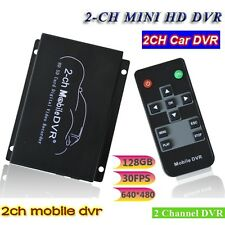 Mini 2 CH Channel Real-time Car Video Recorder DVR System Support NTSC / PAL