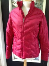 Eddie Bauer Goose Down Jacket Coat Dark Red Cranberry Medium M Packable