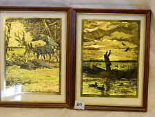 R.H. Palenske gold etch foil imaging prints etching Cautious & Daybreak 8 x 10