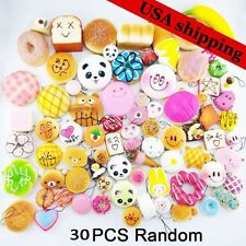 30Pcs Jumbo Medium Mini Random Squishy Soft Panda/Bread/Cake/Buns Phone Straps