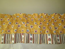 Gorgeous Valance Pierre Deux Yellow Ochre Avignonet French Country Toile Window