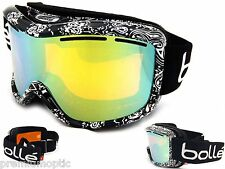 Bolle Womens Ski Snowboard Goggles Monarch Black Bandana / Gold Mirror 20941