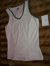 Women's M (8-10) Nike Fit Dry Sleeveless Top White Fitness & Yoga, Tennis