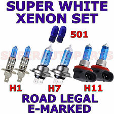 FITS CITROEN C4 COUPE 2004-ON  SET H1  H11  H7 501 SUPER WHITE XENON LIGHT BULBS