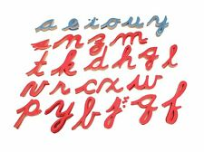 NEW Montessori Language Material - Large Cursive Movable Alphabet Letters Only
