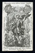 santino incisione 1700  CORI DEGLI ANGELI,GLI ANGELI  klauber
