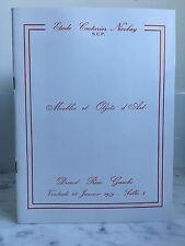 Catalogue de vente Meubles et Objets d'Art Drouot rive Gauche 1979