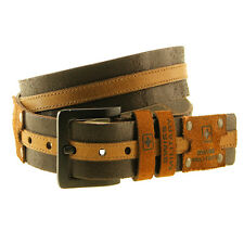 Swiss Military Genuine Leather Belt With Black Matt Finish Buckle (BLT4)