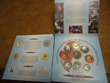 2000 Millenium United Kingdom Uncirculated Coin Collection Set