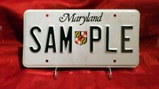 "Original ""Sample"" US Nummernschild/License Plate aus Maryland"