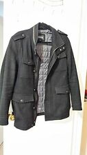 GUESS BLACK SZ SMALL COAT JACKET FOR MENS HEAVY DUTY