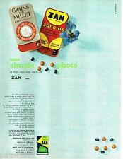 PUBLICITE ADVERTISING  016  1967  Réglisserie ZAN  grains de millet zanoids peti