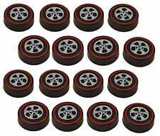 16 Brightvision Redline Wheels – 16 Medium Size Bright Chrome Cap Style Wheels